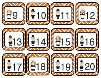 November Chevron Calendar Set