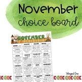 November Early Finishers: Choice Board