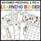 November Circle Time Printables - Preschool and Pre-K Lear