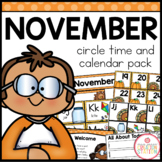 NOVEMBER MORNING MEETING CALENDAR AND CIRCLE TIME RESOURCES