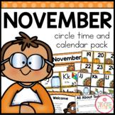 NOVEMBER MORNING MEETING CALENDAR AND CIRCLE TIME RESOURCES