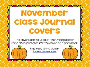 November Class Journal Cover *FREEBIE*