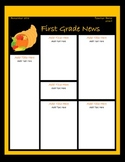November Classroom Newsletter Template
