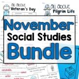 "November   ""Click-and-Print"" Social Studies Bundle"