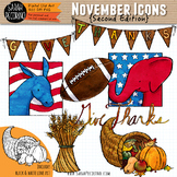 November Clip Art {Second Edition}
