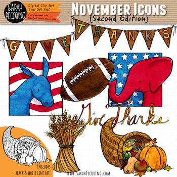 November Clip Art {Second Edition}