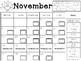 November Clip Chart Behavior Calendar