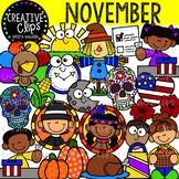 November Clipart {Creative Clips Clipart}