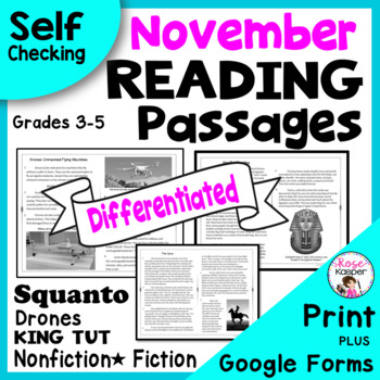 Reading Comprehension Passages and Questions  - November