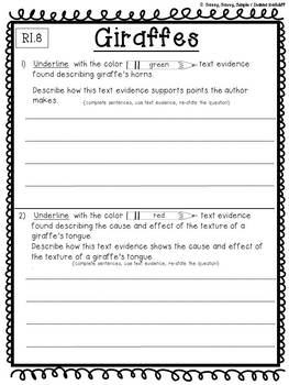 Reading Comprehension Passages with Standards Based Text Dependent Questions