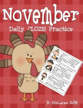 November Cloze Practice