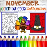 November Color By code Subtraction
