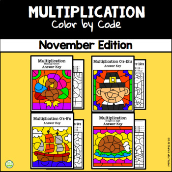 November Color by Code—Multiplication