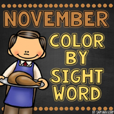 November Color by Sight Word