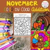 November Color by code addition
