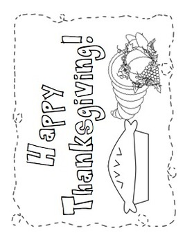 November Coloring and Writing Pages PACK