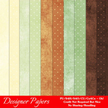 November Colors 2 A4 size Digital Papers by MarloDee Designs