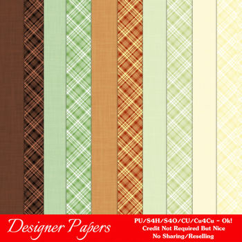 November Colors A4 size Digital Papers by MarloDee Designs