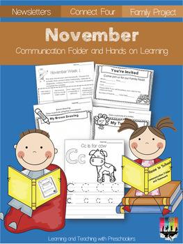November Communication Folder and Homework Packet