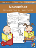 November Communication Folder and Homework Packet