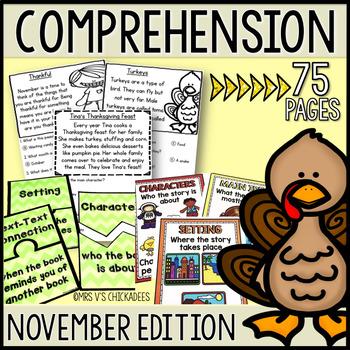 Kindergarten & First Grade Comprehension: NOVEMBER