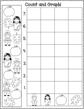 November Count and Graph It:  Graphing for Kindergarten