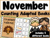 November Counting Adapted Books {set of 5 books) Print and