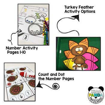 Read, Write and Play to Learn Numbers 1-10, November Thanksgiving Bundle