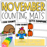 November Counting Mats (for Counting and Comparing)