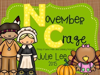 November Craze Ready to Print Math and Literacy Activities