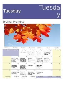 November Creative Writing