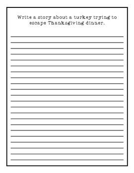 November Creative Writing Packet