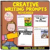 November Creative Writing Prompts | Write and Draw | Print