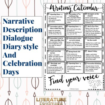Creative Writing Prompts for November