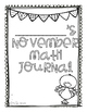 November Critical Thinking and Story Problem Math Journals for First Grade
