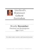 November Cultural Curriculum Weeks 11-14 (Northern Hemisphere)