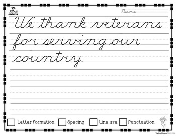November Cursive Copywork - Cursive Handwriting Practice