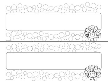November D'Nealian Doodle Tags - Ink Friendly Editable Desk Name Tags