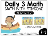 November Daily 3 Math with Someone