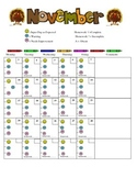 November Daily Behavior Chart