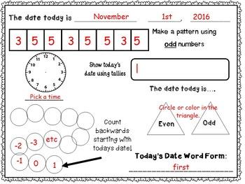 November Daily Calendar Activity Journal