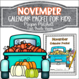 November Daily Calendar Review and Math Practice