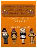November: Daily Common Core Morning Work or Homework for K