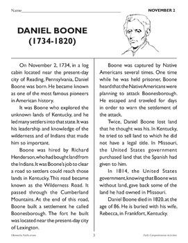 November: Daily Comprehension
