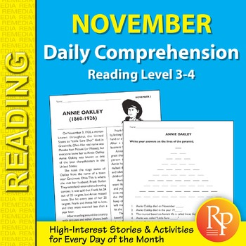 November: Daily Comprehension