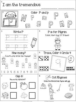 Homework: Kindergarten November Packet (Differentiated Fall)