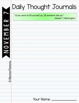 November Journal Prompts for Google Drive