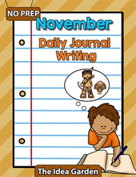 November Daily Journal Writing - NO PREP