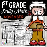 November Daily Math (1st Grade) - Use for morning, homewor