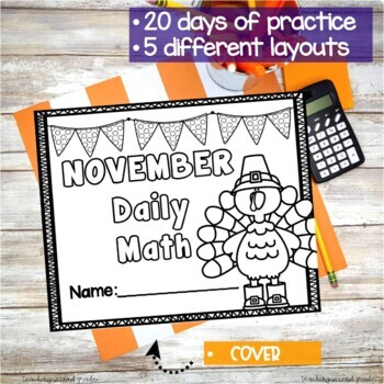 November Daily Math (2nd Grade) - Use for morning, homework or independent work